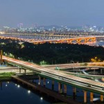 Han River in Seoul Korea
