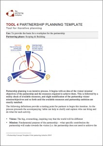 Partnership-Planning-Template
